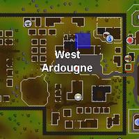 Hot cold clue - West Ardougne map