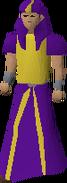 Purple menaphite robes equipped