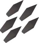 Iron javelin heads detail