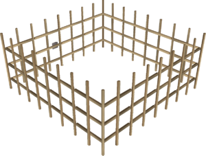 Oak cage built