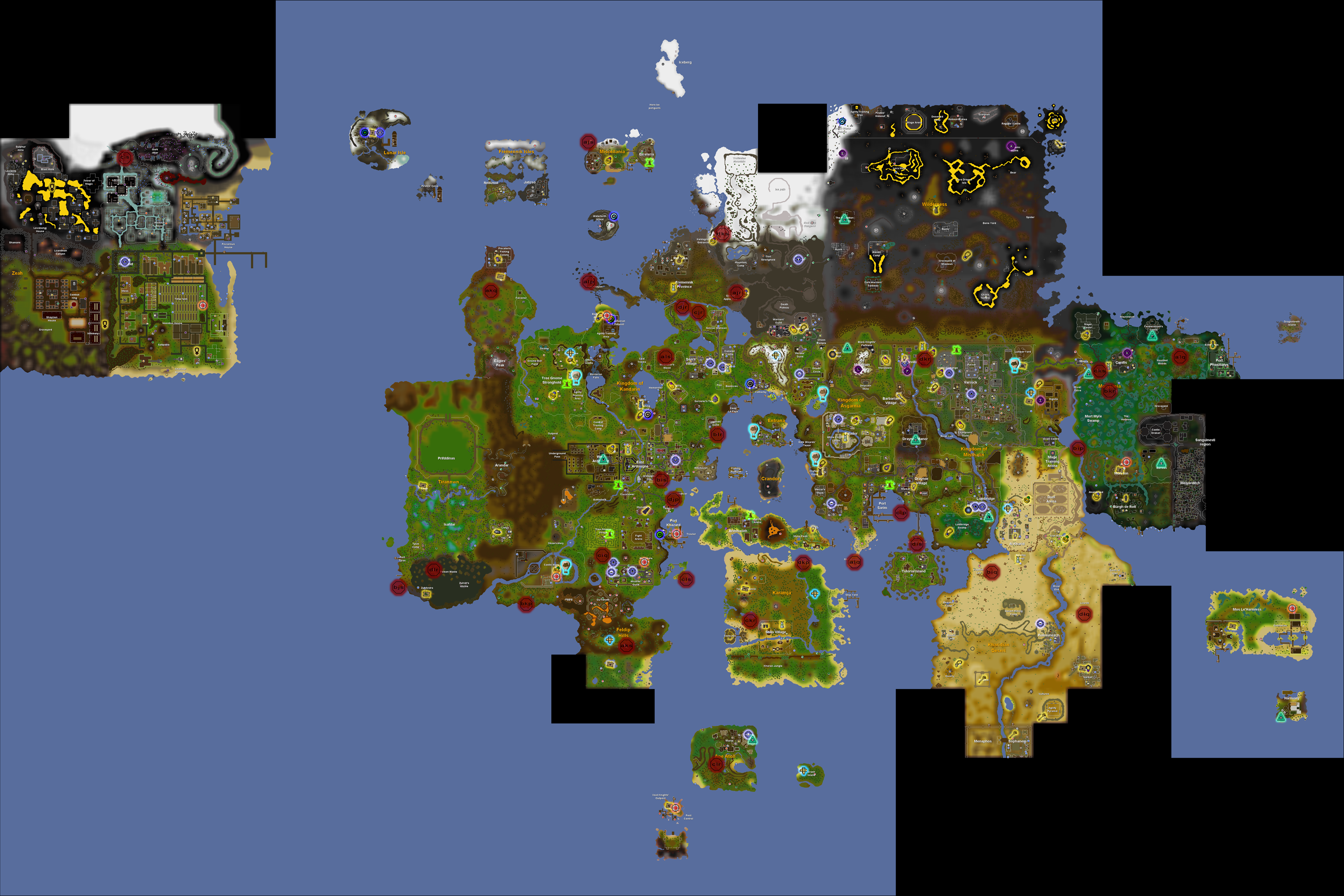 Image   Teleport map.png | Old School RuneScape Wiki | FANDOM