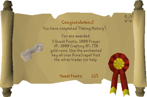 Making History reward scroll