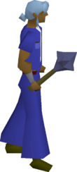 Mithril mace equipped
