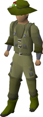 Angler's outfit equipped