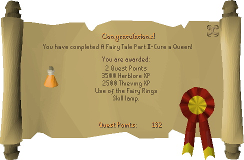 Fairytale II - Cure a Queen reward scroll