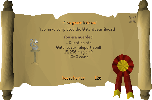 Watchtower reward scroll