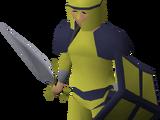 Gold decorative armour