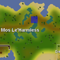 Hot cold clue - northern Mos Le'Harmless map