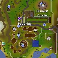 Hot cold clue - east of Taverley herb shop map