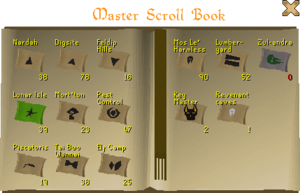 Master scroll book interface