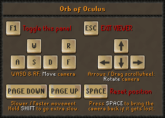 Oculus orb interface