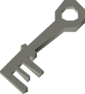 Display cabinet key detail