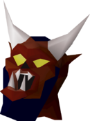 Greater demon mask detail