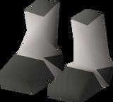 Skeletal boots detail