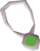 Jade amulet detail