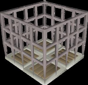 Steel cage built