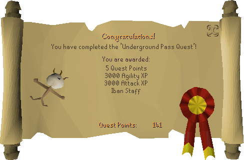 Underground Pass reward scroll