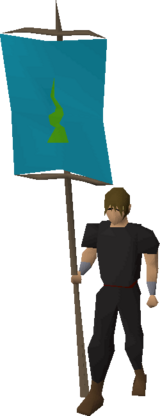 Banner (Guthix) equipped