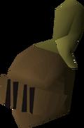 Bronze full helm (t) detail
