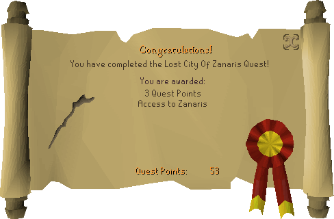 Lost City reward scroll