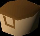 Villager hat (brown) detail
