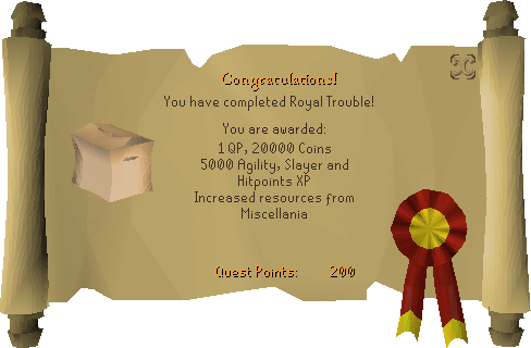 Royal Trouble reward scroll
