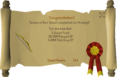 Temple of Ikov reward scroll (Armadyl)