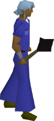 Black mace equipped