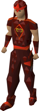 Zamorak blessed d'hide armour equipped