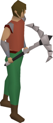 3rd age pickaxe equipped