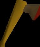 Bronze axe detail