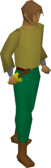 Bronze dagger equipped