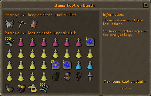 Items Kept on Death | Old School RuneScape Wiki | FANDOM
