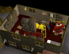 2017 Christmas event - Santa deals with the Wise Old Man