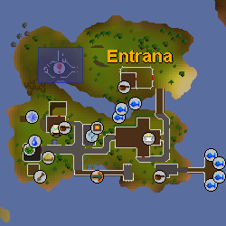 Entrana Dungeon location