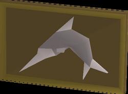 Mounted swordfish built