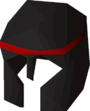 Black med helm detail