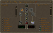 Duel Arena interface