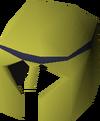 Gold decorative helm detail