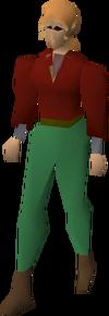 Fremennik red shirt equipped