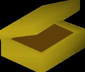 Golden tinderbox detail