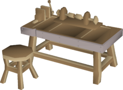Bench with lathe built