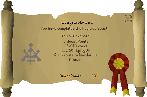 Regicide reward scroll