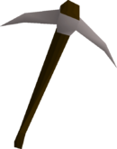 Steel pickaxe detail