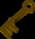 Wrought iron key detail