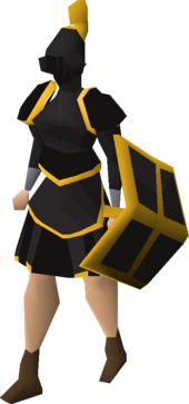 Black gold-trimmed set (sk) equipped