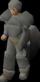 Granite armour equipped