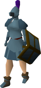 Rune plateskirt equipped