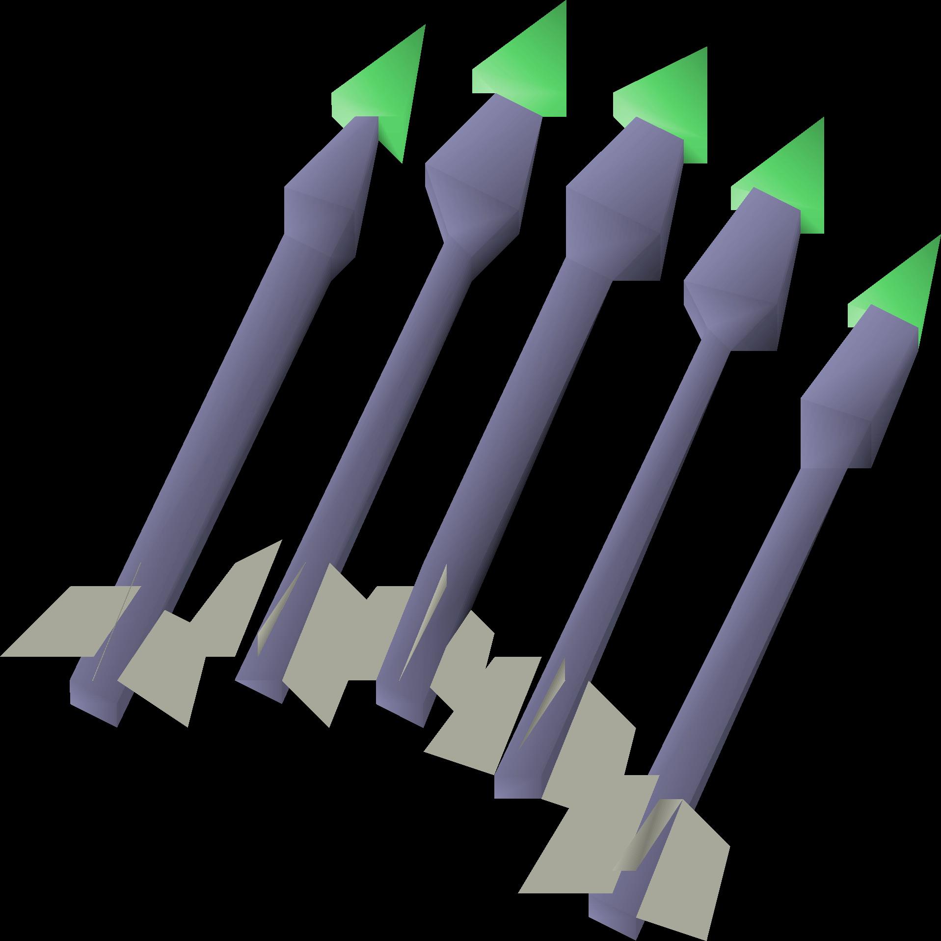Emerald bolts (e) detail