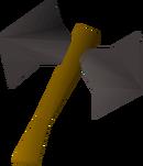 Iron thrownaxe detail